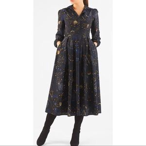 eShakti    NWOT Constellation Shirt Dress Size 6
